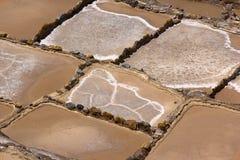 盐大阳台在Maras,秘鲁 免版税库存照片