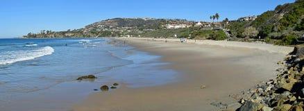 盐小河海滩公园在达讷论点,加利福尼亚 图库摄影