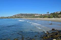 盐小河海滩公园在达讷论点,加利福尼亚 免版税库存图片