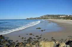 盐小河海滩公园在达讷论点,加利福尼亚 库存照片