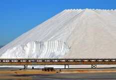 盐山在圣波拉,西班牙 库存照片