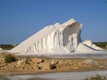 盐山在马略卡海岛 库存图片
