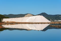 盐山的反射 免版税库存图片