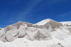 盐形成墙壁在Uyuni 图库摄影