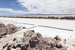 盐提取水池 免版税图库摄影