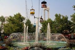 盐水湖公园: 天空乘驾 图库摄影