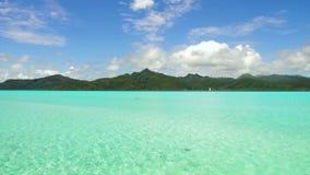 盐水湖和山在法属波利尼西亚 股票录像