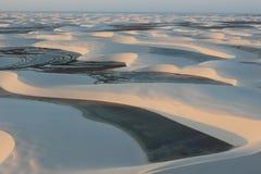 盐水湖在沙漠 免版税库存照片