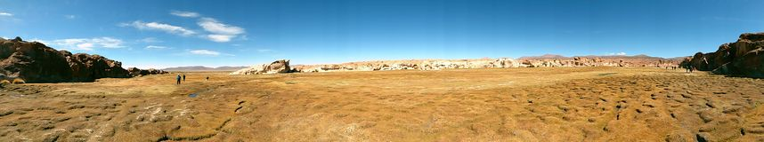 盐水湖在Altiplano 玻利维亚,南美 免版税库存照片