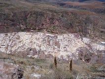 盐沼在神圣的谷的de maras 库存照片