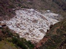 盐沼在神圣的谷的de maras 免版税库存照片