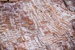 盐沼在cuzco附近的de maras在一个晴天 库存图片