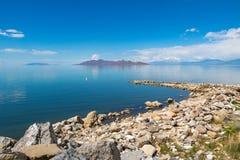 盐湖在盐湖城美国 库存照片