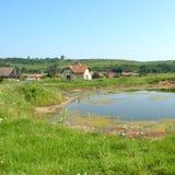 盐湖在锡比乌盐矿镇,在锡比乌Hermanstadt附近 免版税库存图片