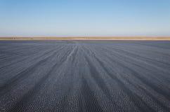 盐湖埃尔顿在俄罗斯 免版税库存图片