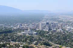盐湖城的看法在犹他 免版税库存照片