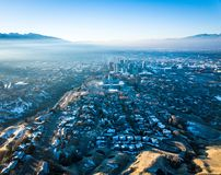 盐湖城空中照片  免版税库存图片