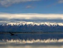 盐湖山 库存照片