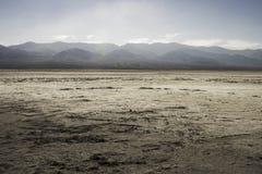 盐溶沙漠, Badwater盆地,死亡谷国家公园, Califor 库存图片