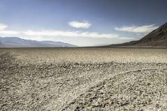盐溶沙漠, Badwater盆地,死亡谷国家公园, Califor 免版税库存图片