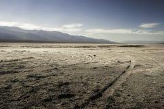 盐溶沙漠, Badwater盆地,死亡谷国家公园, Califor 图库摄影