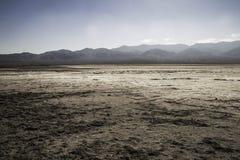 盐溶沙漠, Badwater盆地,死亡谷国家公园, Califor 库存照片