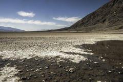 盐溶沙漠, Badwater盆地,死亡谷国家公园, Califor 免版税库存照片