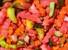 盐溶torshi的食物 库存图片
