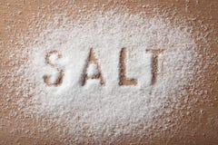 盐白色 免版税库存图片