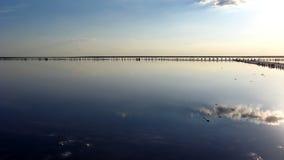 盐的提取风景与太阳的 库存照片