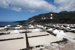 盐的灯塔 免版税库存照片