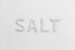 从盐的说明盐 库存图片