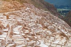 盐矿在秘鲁 免版税库存图片