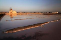 盐矿在西西里岛 免版税库存图片