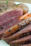 盐腌的牛的胸部肉 库存图片