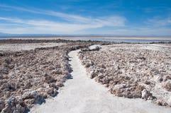 盐舱内甲板Atacama (智利) 免版税图库摄影