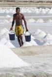 盐装载在两个桶的 免版税图库摄影
