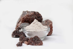 黑盐-印地安香料粉末 库存照片