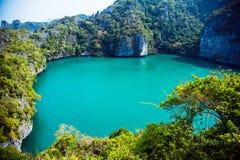 盐水湖在海岛 免版税库存图片