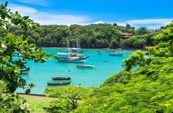 盐水湖在Buzios,里约热内卢 免版税图库摄影