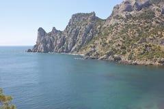 盐水湖山在背景中 免版税库存照片