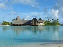 盐水湖法语Polinesia 免版税库存照片