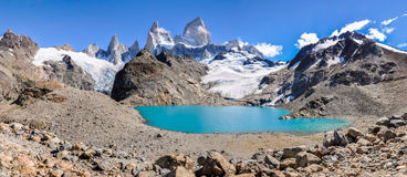 盐水湖,费兹罗伊, El Chalten,阿根廷 库存照片