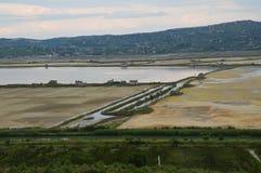 盐secovlje,斯洛文尼亚 免版税库存图片