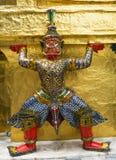 监护人在Wat Phra Keaw 库存照片