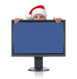 监控圣诞老人 库存图片