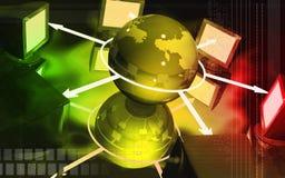 监控网络 向量例证