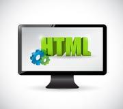 监测html标志例证设计 免版税图库摄影