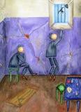 监狱和自由。 库存图片