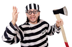 监狱囚犯被隔绝 免版税库存图片